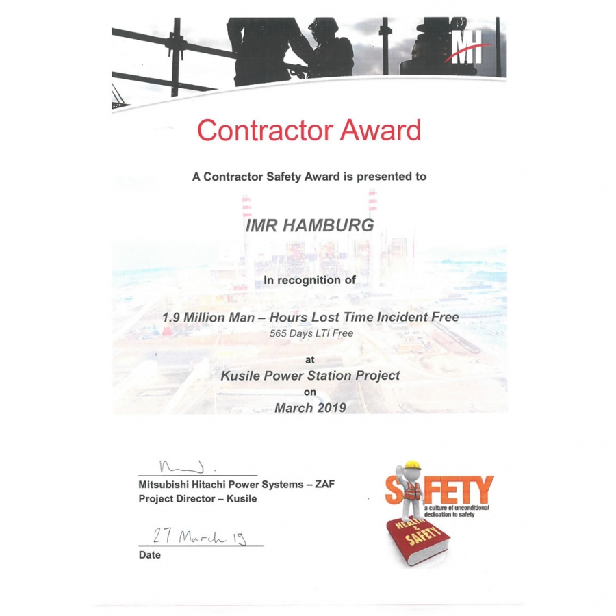 Contractor Safety Award