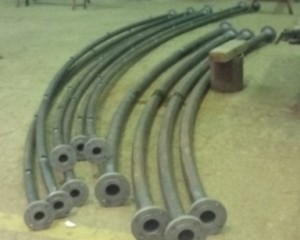 Pre-assembly of pipes in workshop