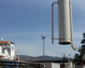 Installation of tank for absorbent and flame catcher in Rijeka Refinery 1